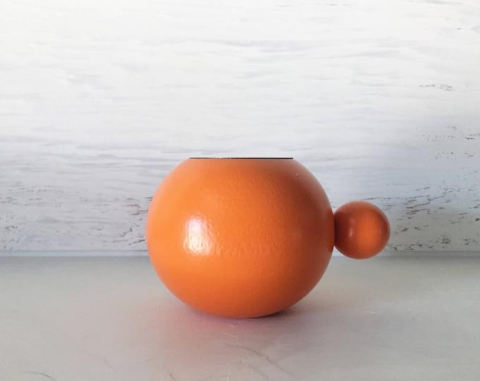 Scandinavian Modern Orange Candle Holder Tealight Made in Sweden