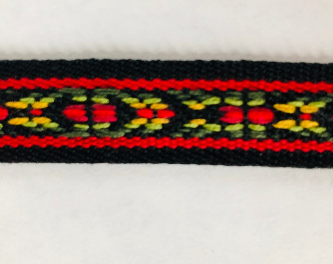 Scandinavian Folk Art Ribbon Handwoven Traditional