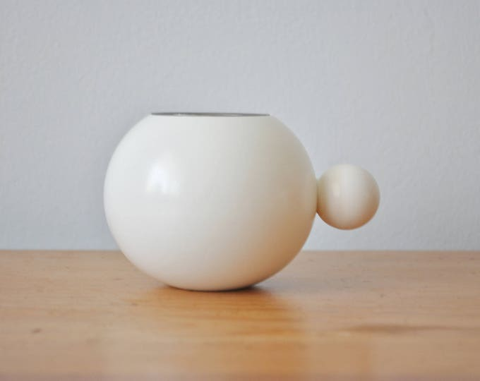 Scandinavian Modern White Candle Holder Tealight Made in Sweden