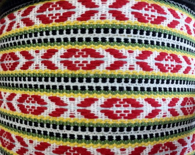 Swedish Folk Art Ribbon Trim Woven Scandinavian Per Yard