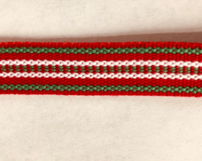Scandinavian Folk Art Ribbon Handwoven Christmas Stripe Per Yard