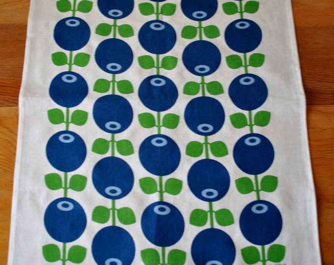 Swedish Modern Blueberry Tea Towel Retro Design