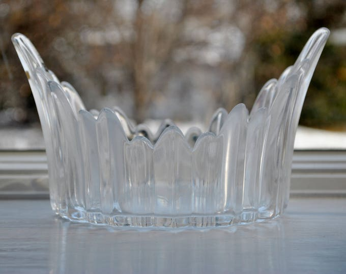 Skruf Swedish Glass Icicle Bowl Mid Century Modern Bengt Edenfalk