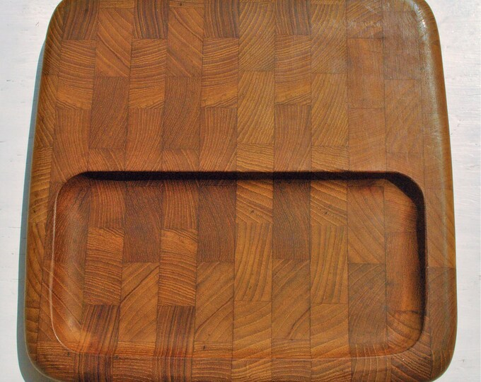 Dansk Jens Quistgaard IHQ Teak Wood Cheese and Crackers Board Mid Century Modern