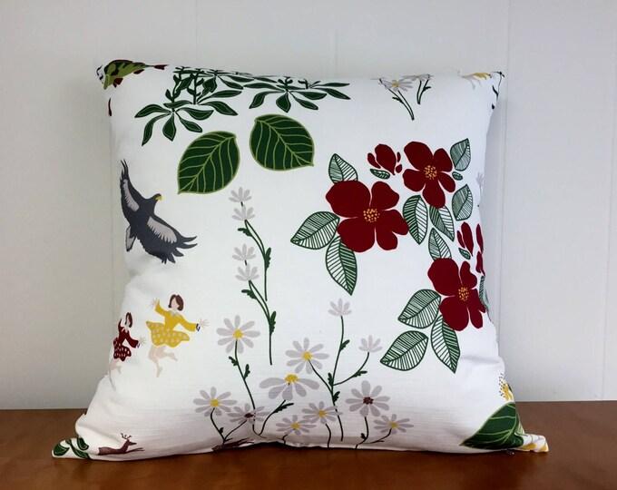 Swedish Himlajord Black Pillow Case Cover Josef Frank Style