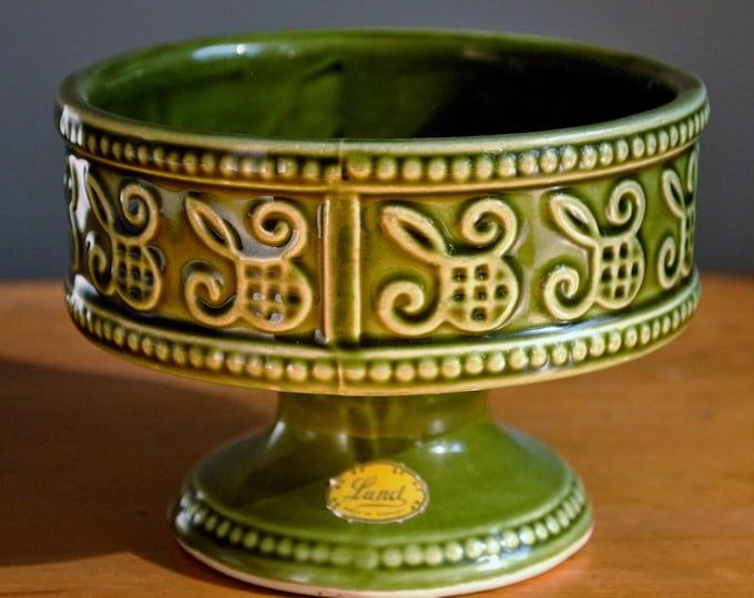 Vintage Norwegian Lund Ceramic Bowl or Planter Mid Century Scandinavian Modern