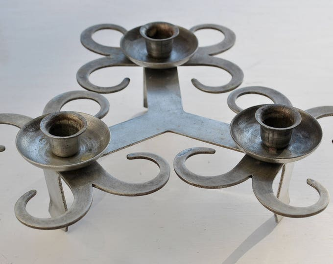 Antique Swedish Iron Candle Holder
