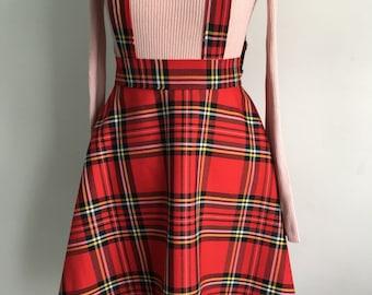 Tartan   Check Suspender Skirt