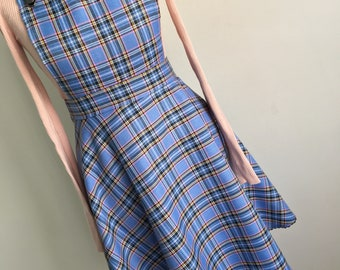 Tartan Check Pinafore Dress | Skater Skirt (2in1)