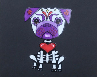 Day of the Dead Pug #182