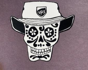 UPS Driver in sun hat #180a/180b