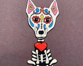 Day of the Dead White Husky/Shepard #178