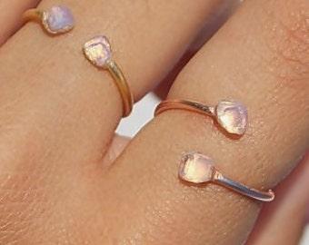 Moonstone, Moonstone Ring, Sterling Silver Ring, Moonstone Gold  Ring, Rose Gold Ring, Moonstone Stacking Ring, Moonstone