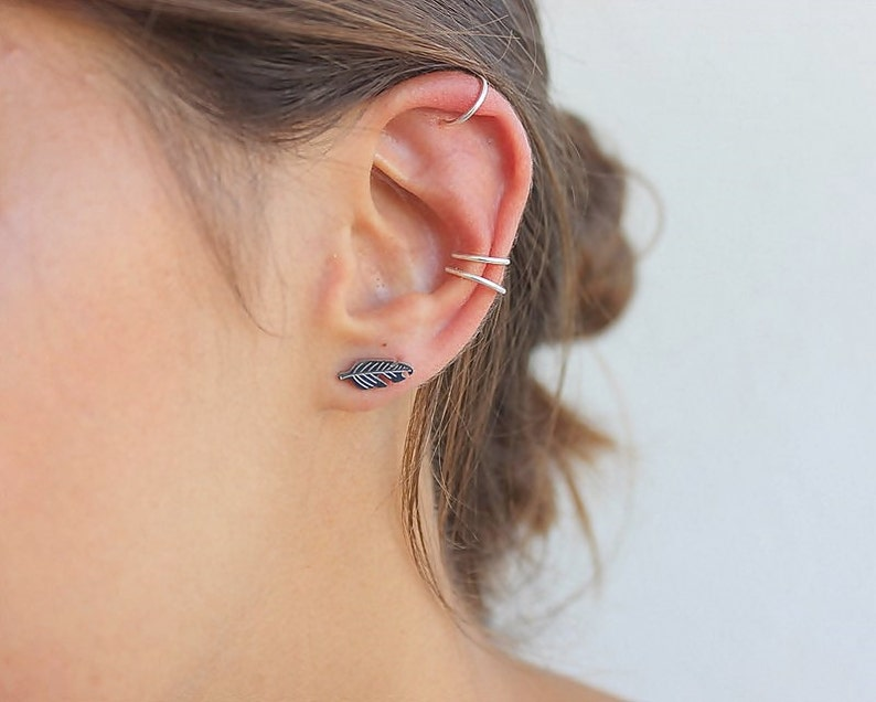 3 Conch Piercing Ear Cuff Ear Cuffs No Piercing Tragus Piercing Double Piercing Earring Cartilage Earring Rook Piercing Ear Party