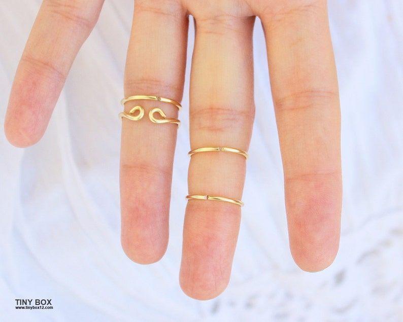 4 Gold Midi Rings Gold Knuckle Ring,Turquoise Midi Rings,Turquoise Jewelry,Stacking Midi Ring Chevron Ring,ChevronTurquoise Ring
