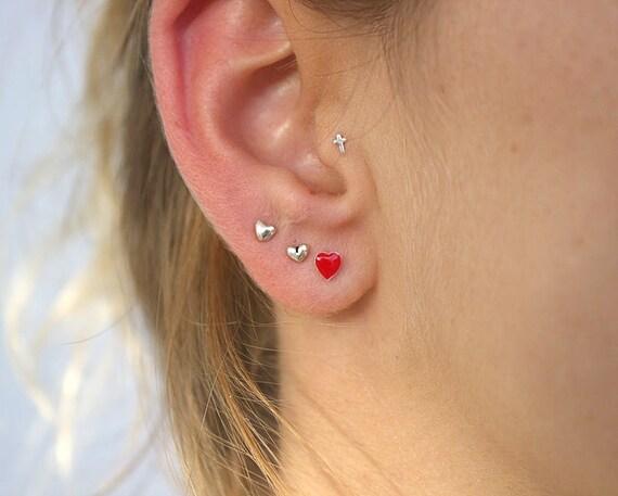 Cross Tragus Piercing Tiny Tragus Earring Star Nose Stud Tragus Small Cartilage Earring Tragus Stud Tiny Heart Helix Earring
