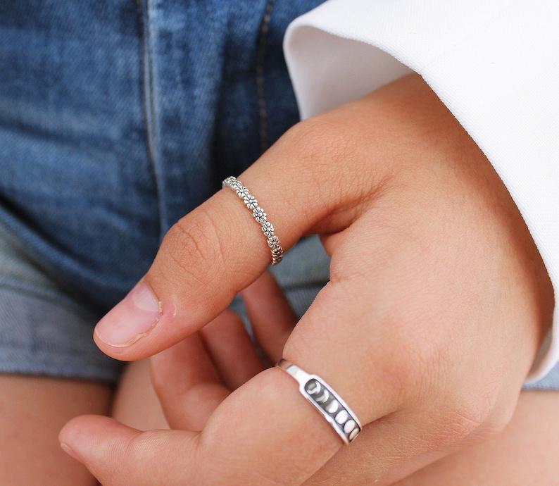 44d7ce5a05641e Daisy Thumb Ring Sterling Silver Ring Boho Ring Thumb Rings   Etsy