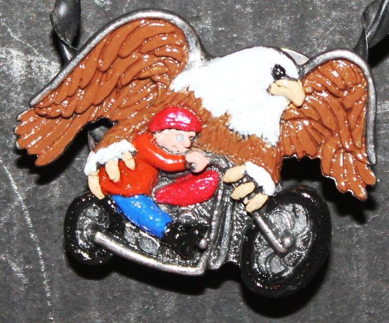 Eagle Rider Hand Painted Guardian Angel Pins - MP-8861-EAGLE RIDER-MGA01