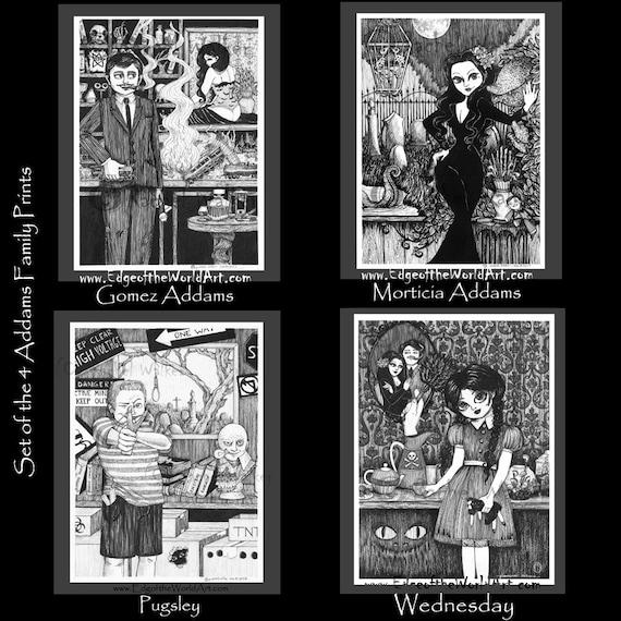 Wednesday Addams Addams Family Edward Gorey inspired  417508090e93