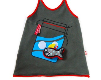 BEEETÚ Halter top and happy fish