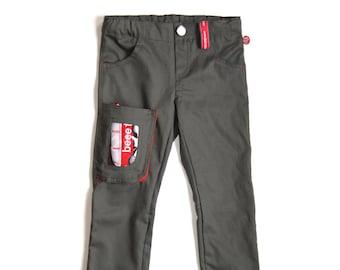 Trousers with cool window bag + van