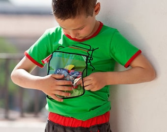 BEEETÚ T-shirt with tough wekpot and shark toy