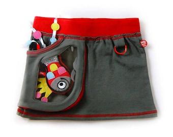 Miniskirt window bag + happy fish
