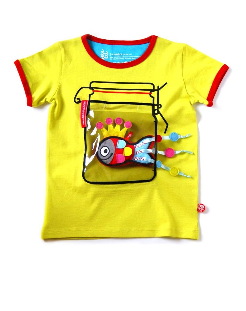 T-shirt jar  fish toy image 0