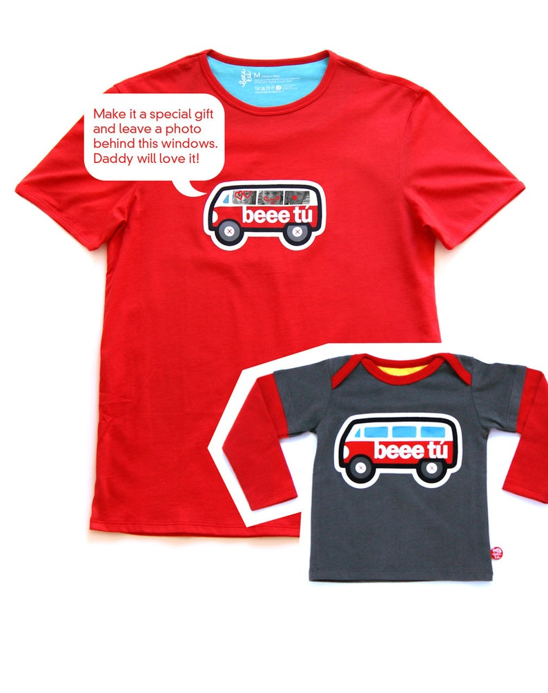 matching t-shirts Dad  me personalized message image 0