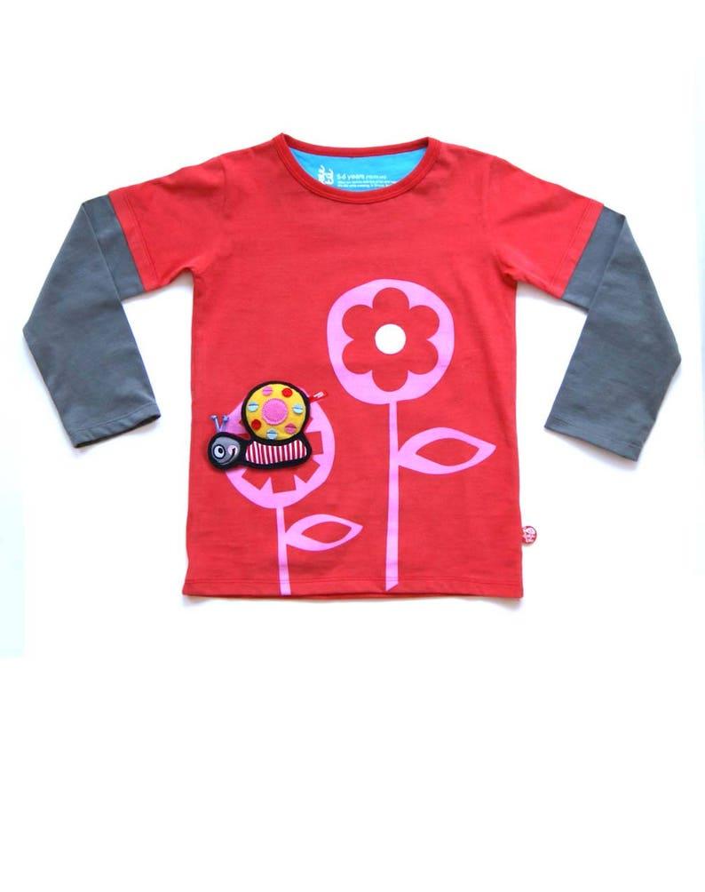 T-shirt Girlflower  Snail image 0
