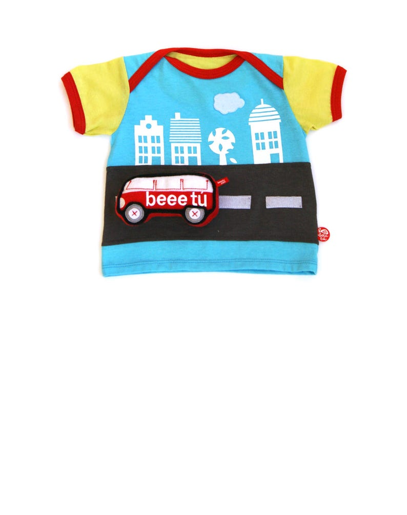 BEEETÚ Baby T-shirt round trip with van image 0