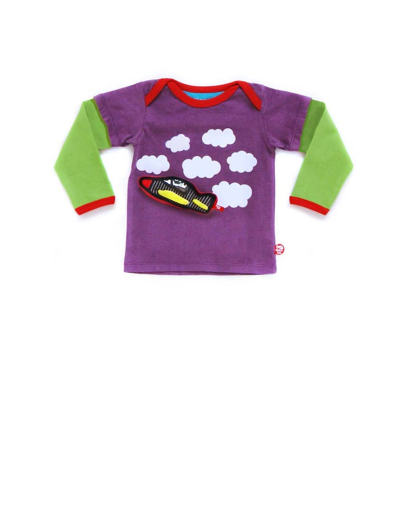 BEEETÚ Baby sweater Sky driving  plane image 0