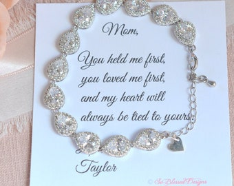 Mother of the Bride Gift, Mother of the Groom Gift, Mother of Bride Bracelet, Gift for Mother of the Bride for Wedding, To Mom from Bride