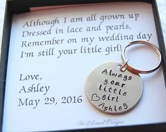 Gifts for Father of the Bride, Always your little girl, From Bride to Dad, To DAD from bride on wedding day