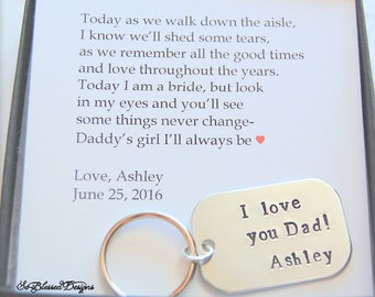 Father of the Bride gift, from Bride, Father of Bride gift ideas, Unique Father of the Bride gifts, Father of the Bride key chain