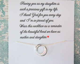 Daughter Gift From Mom Mother Necklace Jewelry For DAUGHTER To Birthday