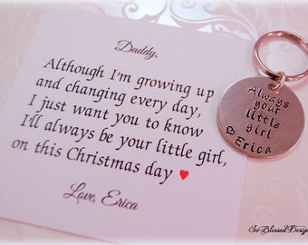 christmas gifts for daddy from daughter new daddy gift gift for dad dad gift from daughter pewter copper keychain personalized gifts
