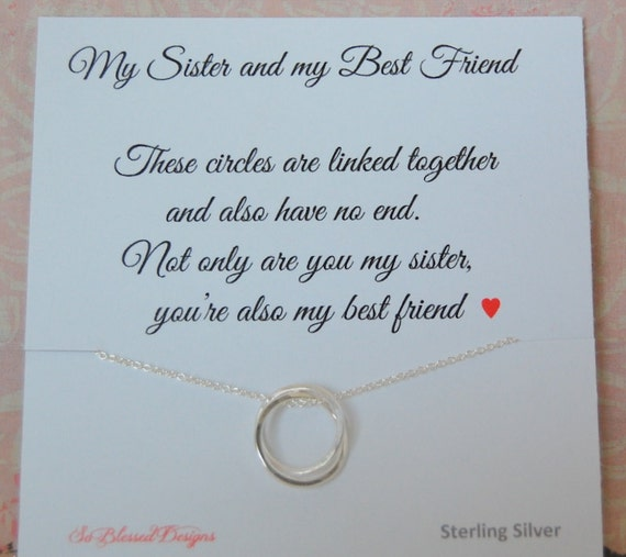 Sister Necklace Christmas Gift Wedding For Sister Etsy