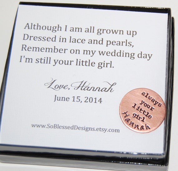 Father Of The Bride Gift With Poem Father Of The Bride Coin Etsy