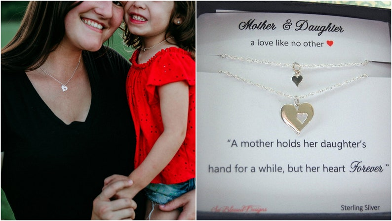 Mother Daughter Necklace Set Birthday Gift for Mom Gifts for image 0