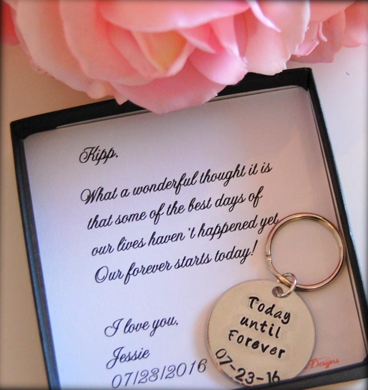 Grooms Gift From Bride Key Chain Bride To Groom Gift On Etsy