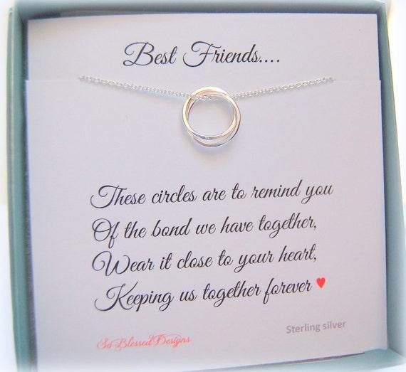 Best Friend Gift Bridesmaid Gift Friendship Poem Circles
