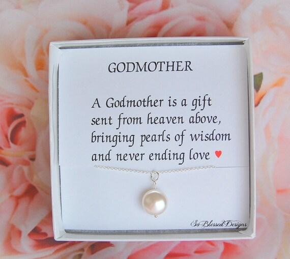 Cadeau De Marraine Collier Marraine Avec Poème Collier De Perles Pour La Marraine De Filleul Bijoux De Marraine