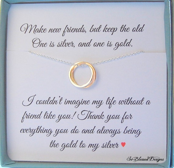 Gift For Best Friend Mixed Metal Jewelry Best Friends Bff Etsy