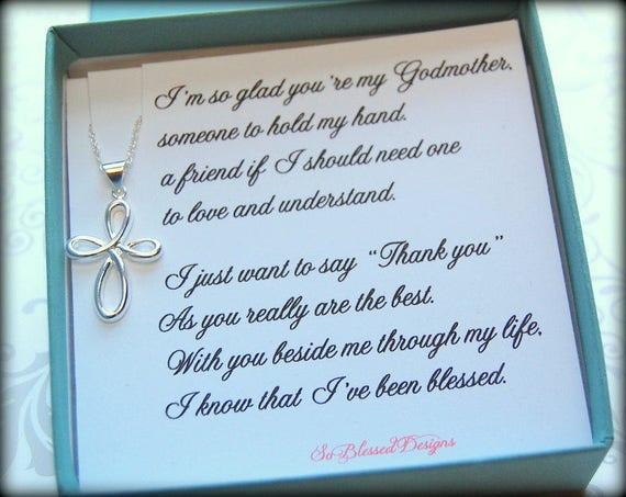 Collier Cadeau Marraine Pour La Marraine Poème Merci Dêtre Ma Marraine Bijoux De Godon Ou Filleule
