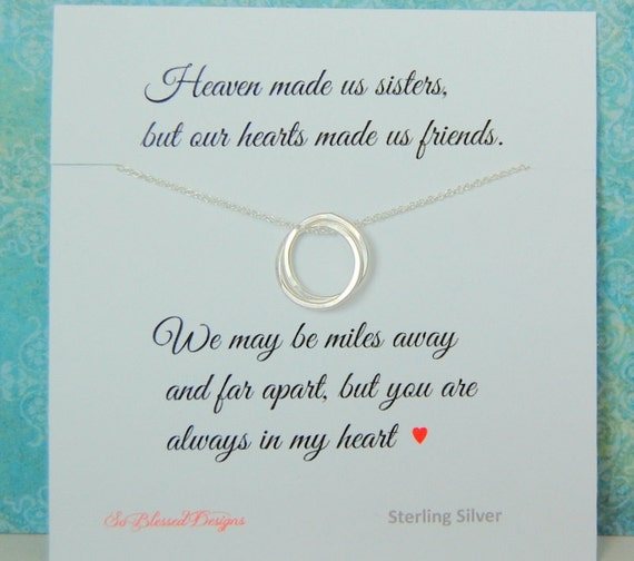 Sister Necklace Sister Jewelry Sterling Silver Rings For Etsy
