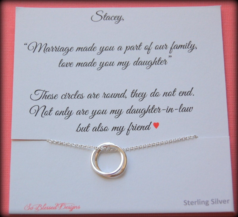 Gift For New Daughter In Law From Mother In Law Daughter In Etsy