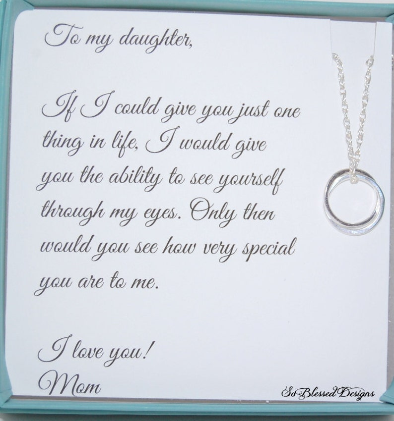 d6648e8e315 Gifts for daughter from Mom DAUGHTER necklace To Daughter