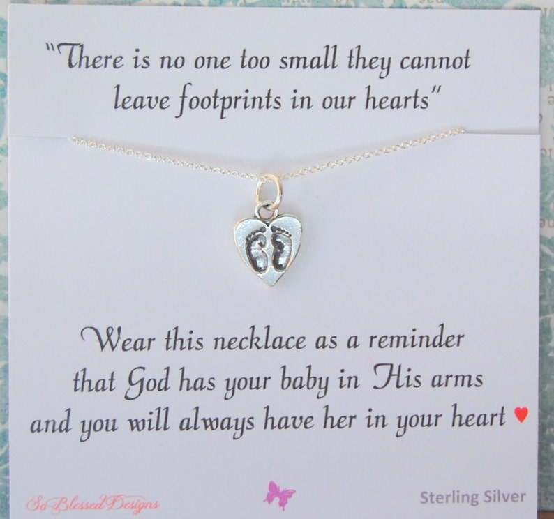 Miscarriage necklace Infant loss jewelry sympathy gift loss of image 0