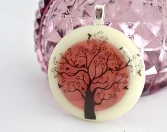 Tree Pendant, FUSED GLASS JEWELRY, Tree Jewlery, glass jewelry, Tree Necklace, Tree of Life Pendant